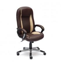 Кресло компьютерное BRINDISI (иск. кожа, коричневый-бежевый)