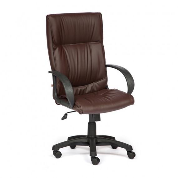 Кресло DAVOS с экокожей коричневое