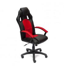 Кресло компьютерное DRIVER (иск. кожа/ткань, черный/красный)