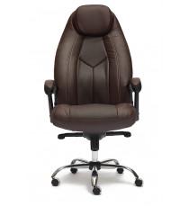 Кресло офисное Boss lux коричневое (экокожа + перфор. экокожа)