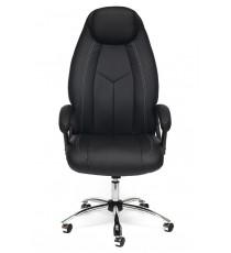 Кресло офисное Boss черное (экокожа + перфор. экокожа)