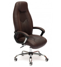 Кресло офисное Boss коричневое (экокожа + перфор. экокожа)