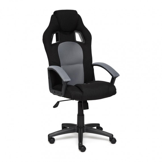 Кресло компьютерное DRIVER (иск. кожа-ткань, черный-серый)