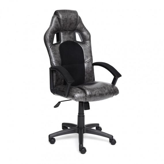 Кресло компьютерное DRIVER (иск. кожа-ткань, серый-черный) 2 TONE