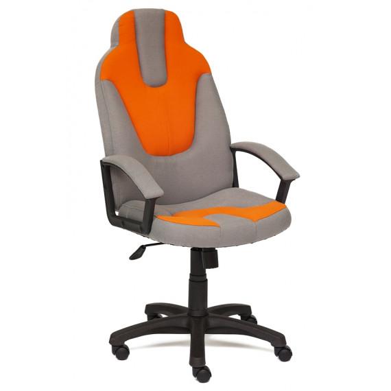 Кресло компьютерное NEO-3 (Серая + оранжевая ткань)