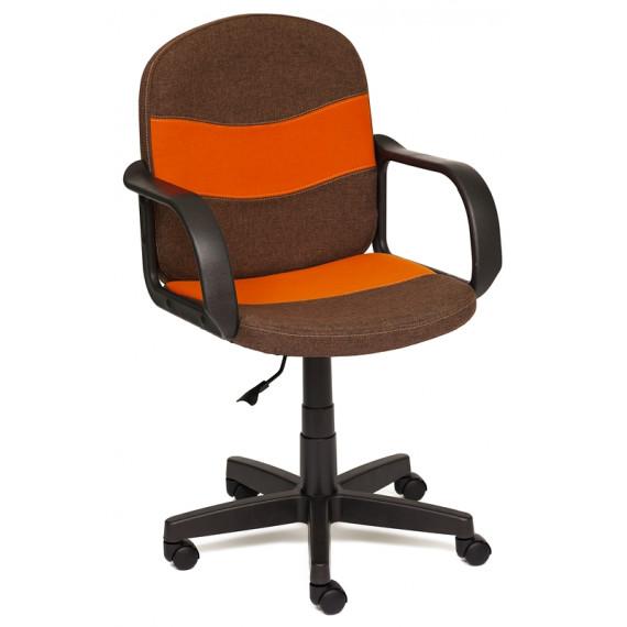 Кресло компьютерное BAGGI (ткань, коричневый + оранжевый)