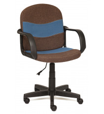 Кресло компьютерное BAGGI (ткань, коричневый + синий)