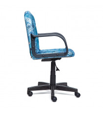 """Кресло компьютерное BAGGI (ткань, """"Карта на синем"""")"""