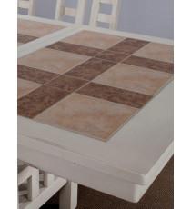 Стол Cyclon White 95х125/153см