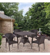 Комплект плетеной мебели T190BD/Y290B-W52 Brown 4Pcs