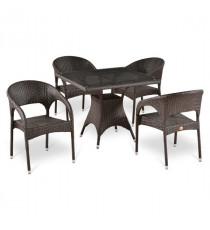 Комплект плетеной мебели T220BT/Y90C-W51 Brown 4Pcs