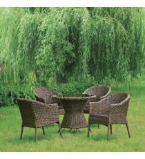 Комплект плетеной мебели RT-A52 Brown  4Pcs