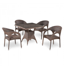 Комплект плетеной мебели T220BG/Y90CG-W1289 Pale 4Pcs