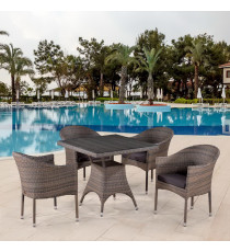 Комплект плетеной мебели T220BG/Y350BG-W1289 Pale 4Pcs