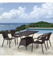 Комплект плетеной мебели T198D/Y137C-W53 Brown 4Pcs