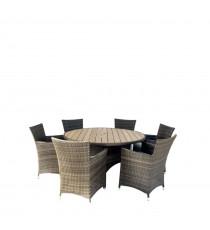 Комплект плетеной мебели AFM-190 Brown/Light 6Pcs