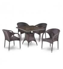 Комплект плетеной мебели T220BBT/Y290B-W52 Brown 4Pcs