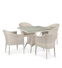 Комплект плетеной мебели T190B/Y350A-W85-90x90 Latte 4Pcs