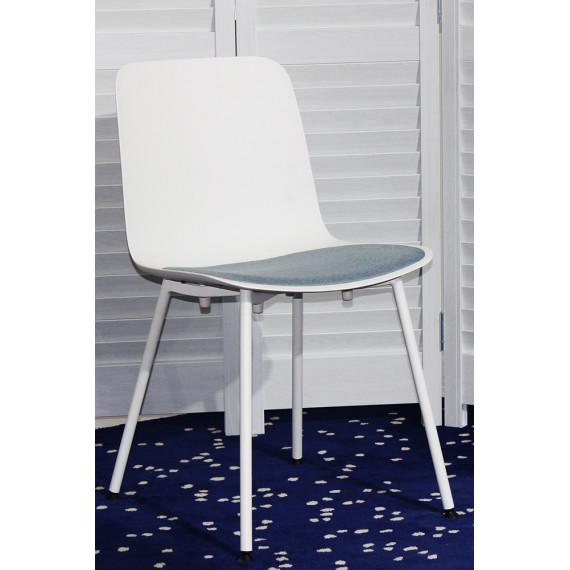 Стул SLEEK F10FA WHITE - BLUE