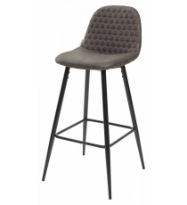 Барный стул LION BAR PK-04 темно-серый, ткань микрофибра