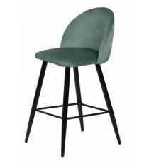 Барный стул MALIBU пудровый мятный, велюр G108-28