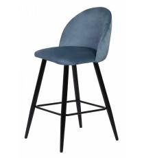 Барный стул MALIBU пудровый синий, велюр G108-56