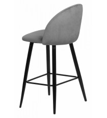 Барный стул MALIBU серый, велюр G108-51