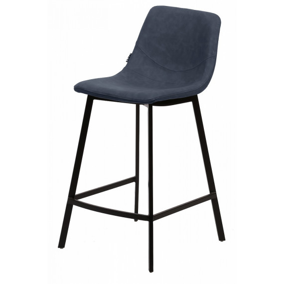 Барный стул HAMILTON RU-03 PU синяя сталь