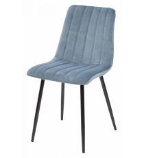 Стул DUBLIN пудровый синий, велюр G108-56
