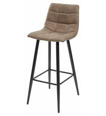 Барный стул SPICE PK-01 серо-коричневый, ткань микрофибра