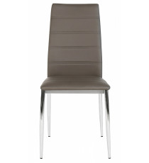 Стул DESERT 603 серо-коричневый, экокожа