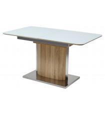 Стол LUXOR 140 Белый глянец / Дуб серо-коричневый винтажный