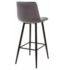 Барный стул LECCO UF910-05 DARK GREY, велюр