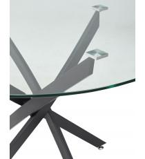 Стол PETAL D110 стеклянный