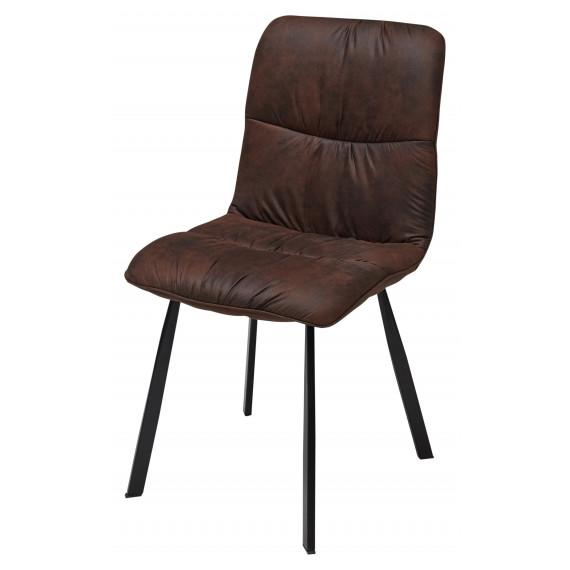 Стул BUFFALO коричневый винтажный, микрофибра PK-03