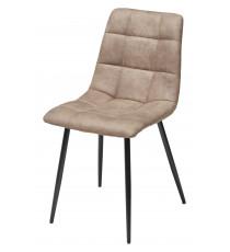 Стул CHILLI серо-коричневый винтажный, микрофибра PK-01