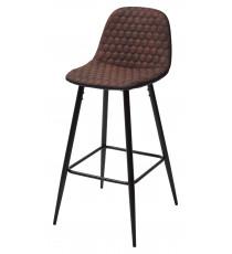Барный стул LION микрофибра PK-03/ PU P-1 black