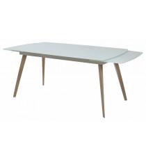 Стол  ELIOT 140 Super white glass+Wood матовое стекло